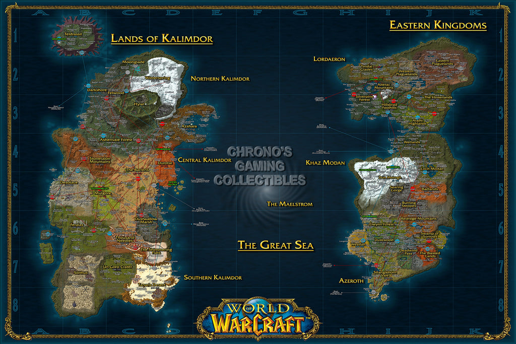 CGC Huge Poster - World of Warcraft World Map PC - EXT184