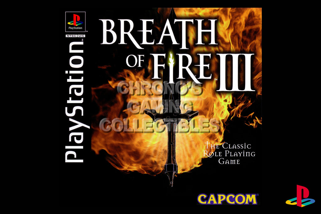 CGC Huge Poster - Breath of Fire III - Playstation PS1 PSX - PSX009