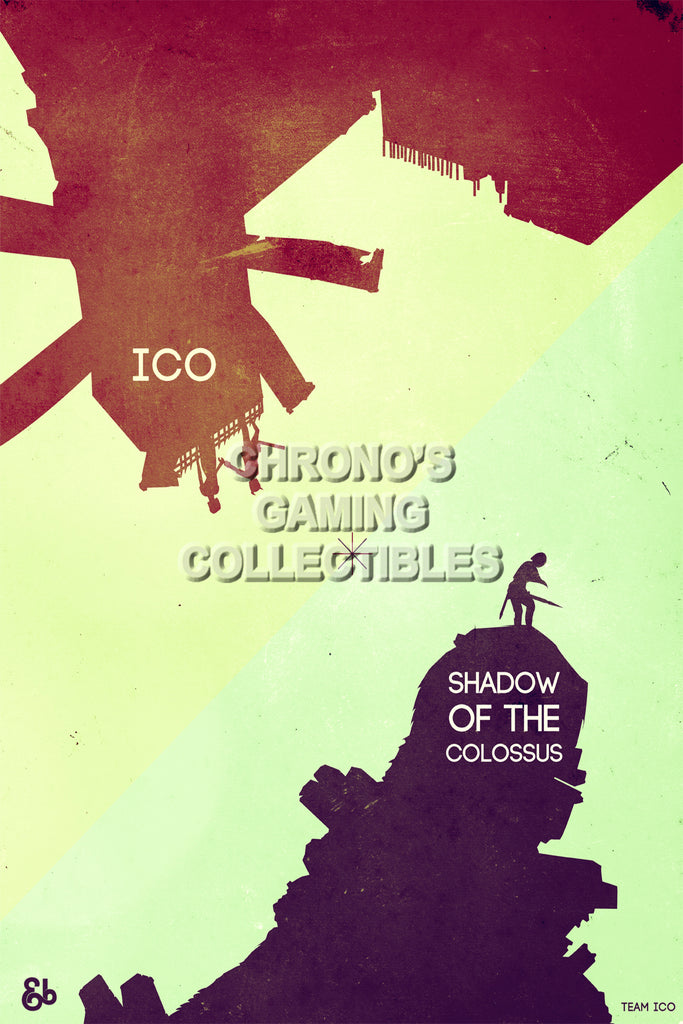CGC Huge Poster - ICO and Shadow of Colossus - PS2 PS3 - ICO004