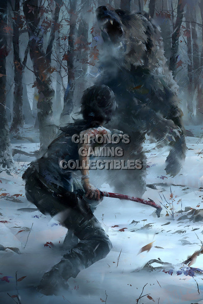 CGC Huge Poster - Rise of The Tomb Raider Concept Art - XBOX ONE PS4 PC - TOM020