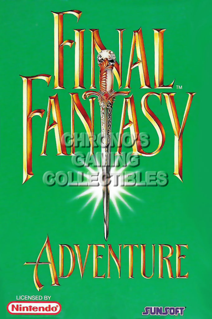 CGC Huge Poster - Final Fantasy Adventure Original Nintendo Gameboy Box Art - GBO018