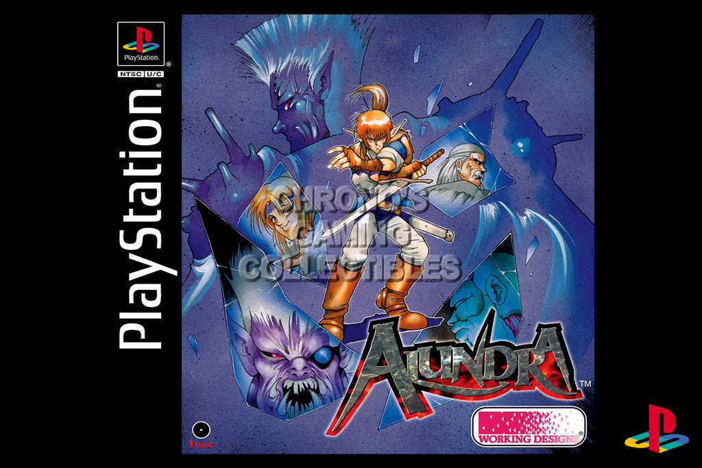 CGC Huge Poster - Alundra - Playstation PS1 PSX - PSX002