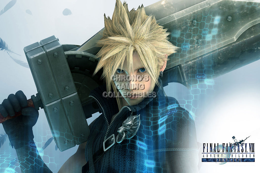 CGC Huge Poster - Final Fantasy VII Advent Children Cloud Strife PS1 PSP - FVII003