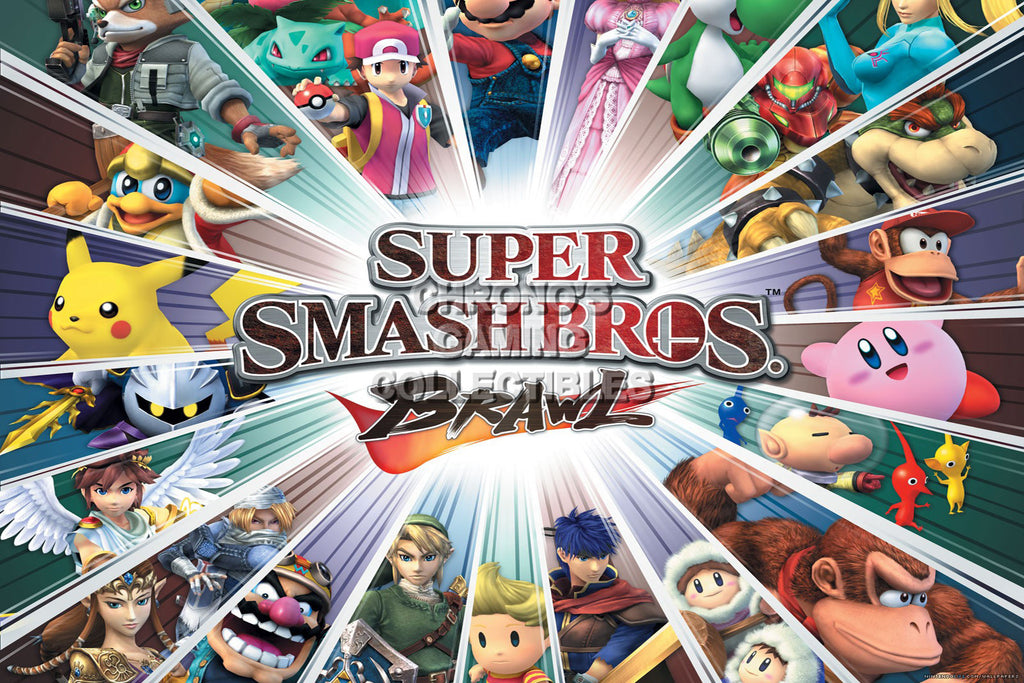 CGC Huge Poster - Super Smash Bros. Wii U 3DS Brawl   - SMA032