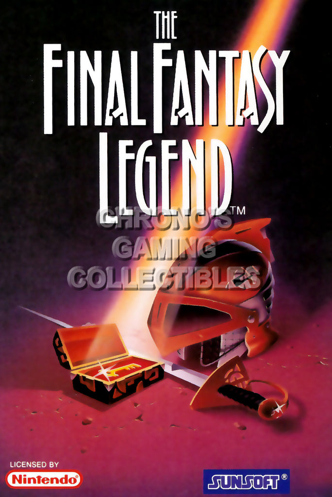 CGC Huge Poster - Final Fantasy Legend Original Nintendo Gameboy Box Art - GBO019