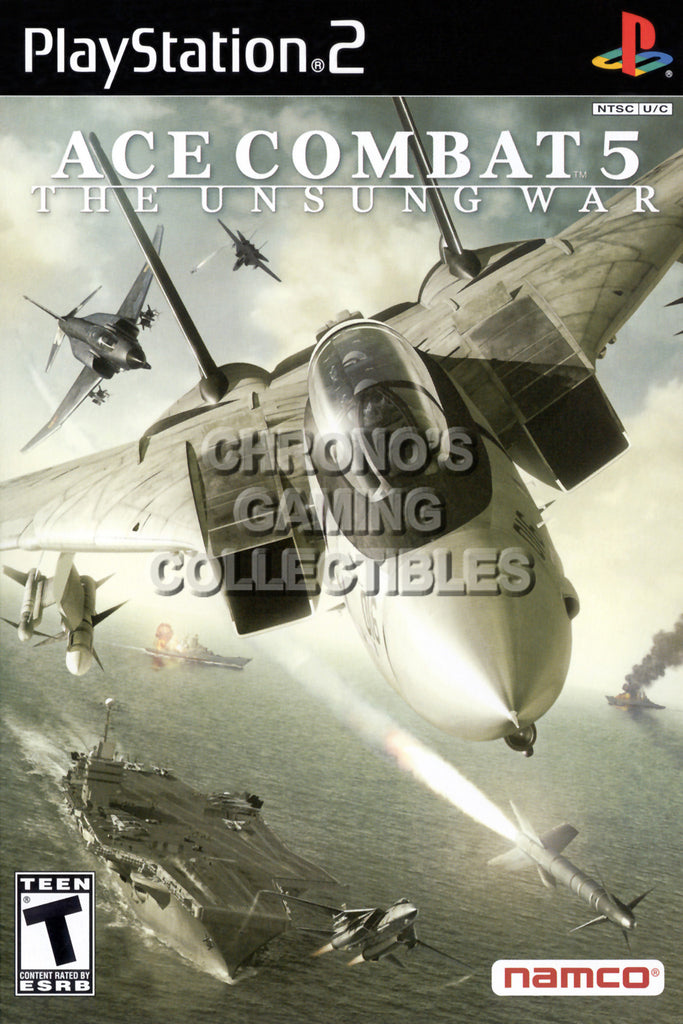 CGC Huge Poster - Ace Combat 5 The Unsung War - BOX ART Sony Plastation 2 PS2 - PS2009