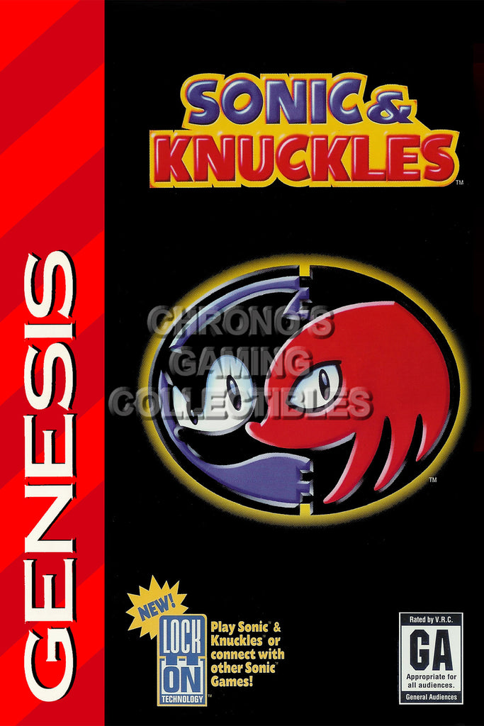 CGC Huge Poster - Sonic and Kunckles Sega Genesis - SON004