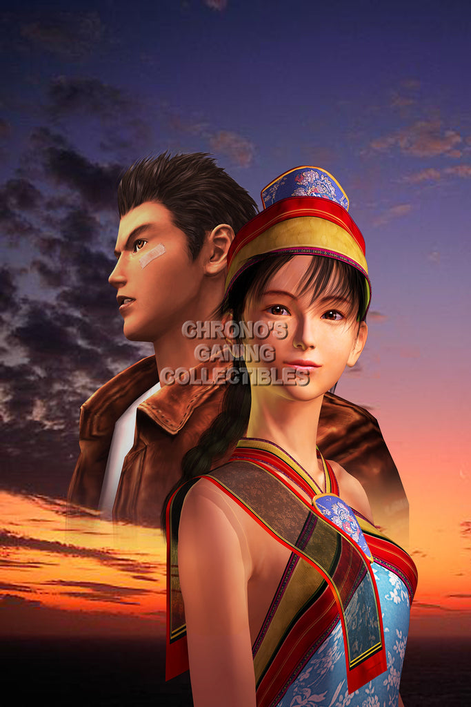 CGC Huge Poster - Shenmue Ryo and Shenhua Dreamcast - SHE009