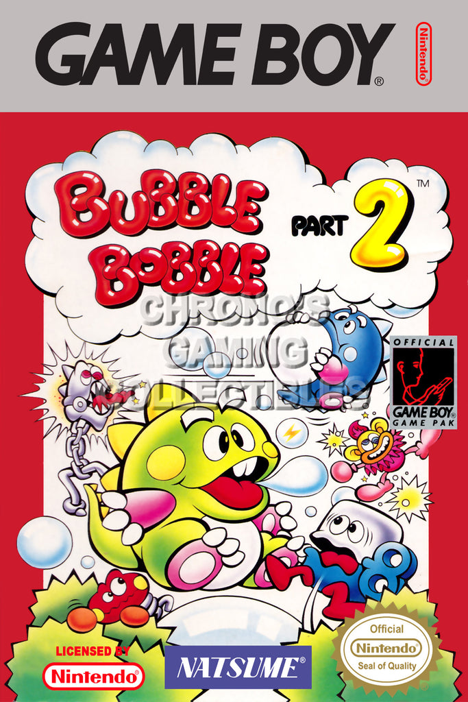 CGC Huge Poster - Bubble Bobble Part 2 Original Nintendo Gameboy Box Art - GBO006