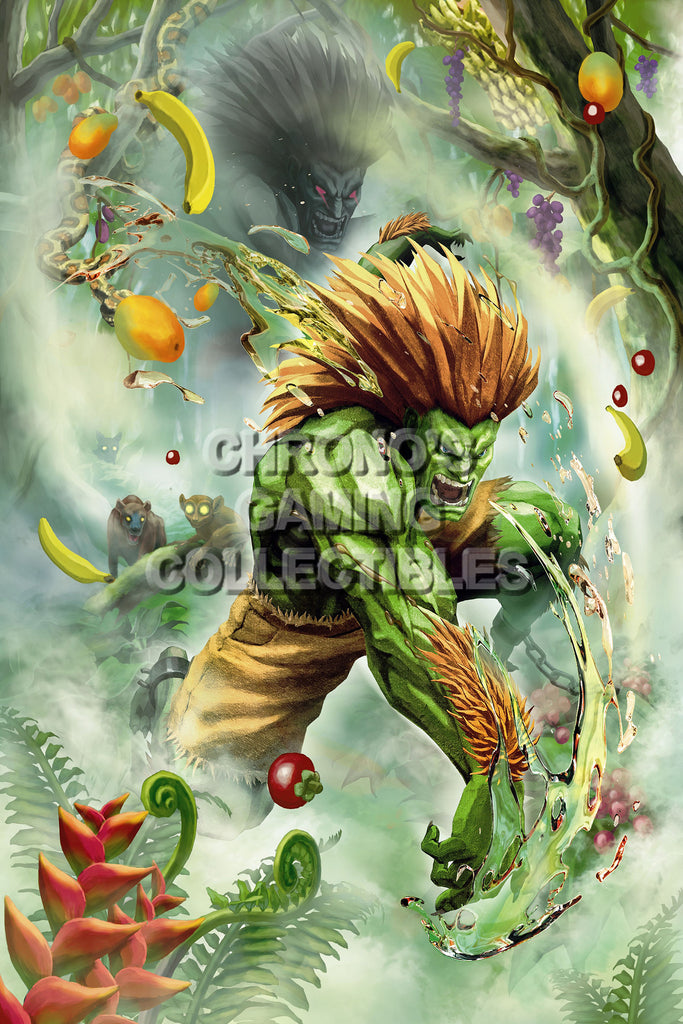 CGC Huge Poster - Street Fighter IV   Blanka- STR025