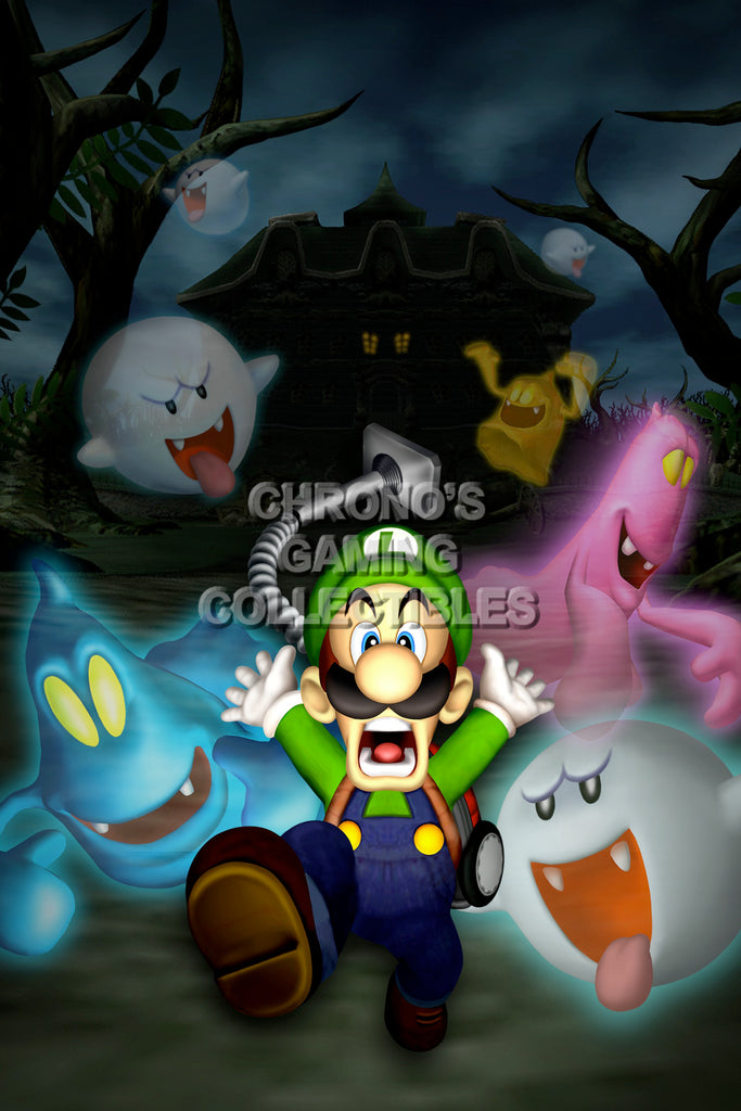 CGC Huge Poster - Luigi's Mansion Nintendo 3DS GameCube - MAR015