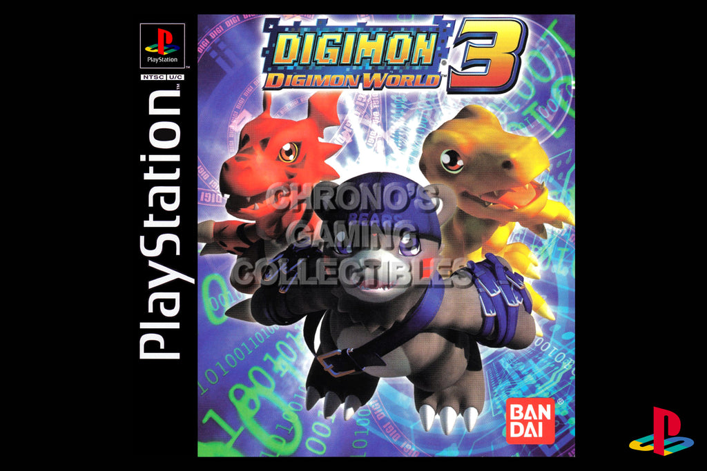 CGC Huge Poster - Digimon World 3 - Playstation PS1 PSX - PSX021