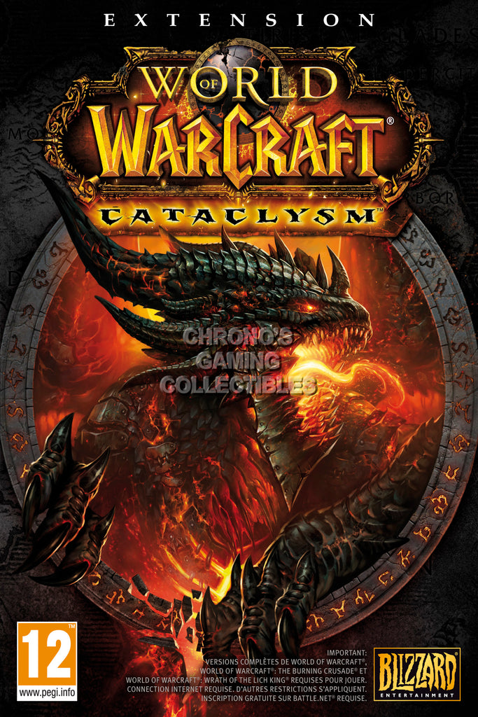 CGC Huge Poster - World of Warcraft Cataclysm BOX ART PC - EXT177