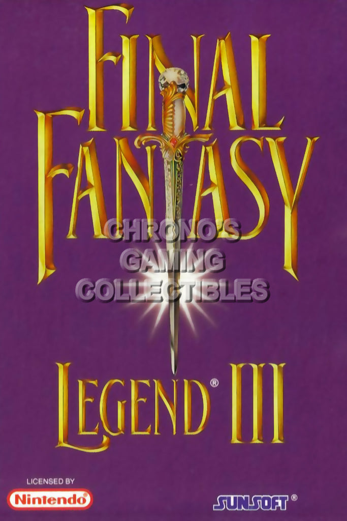 CGC Huge Poster - Final Fantasy Legend III Original Nintendo Gameboy Box Art - GBO021
