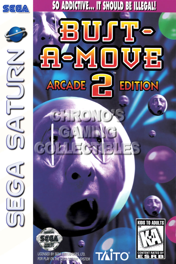 CGC Huge Poster - Bust A Move 2 BOX ART - Sega Saturn  - SAT011