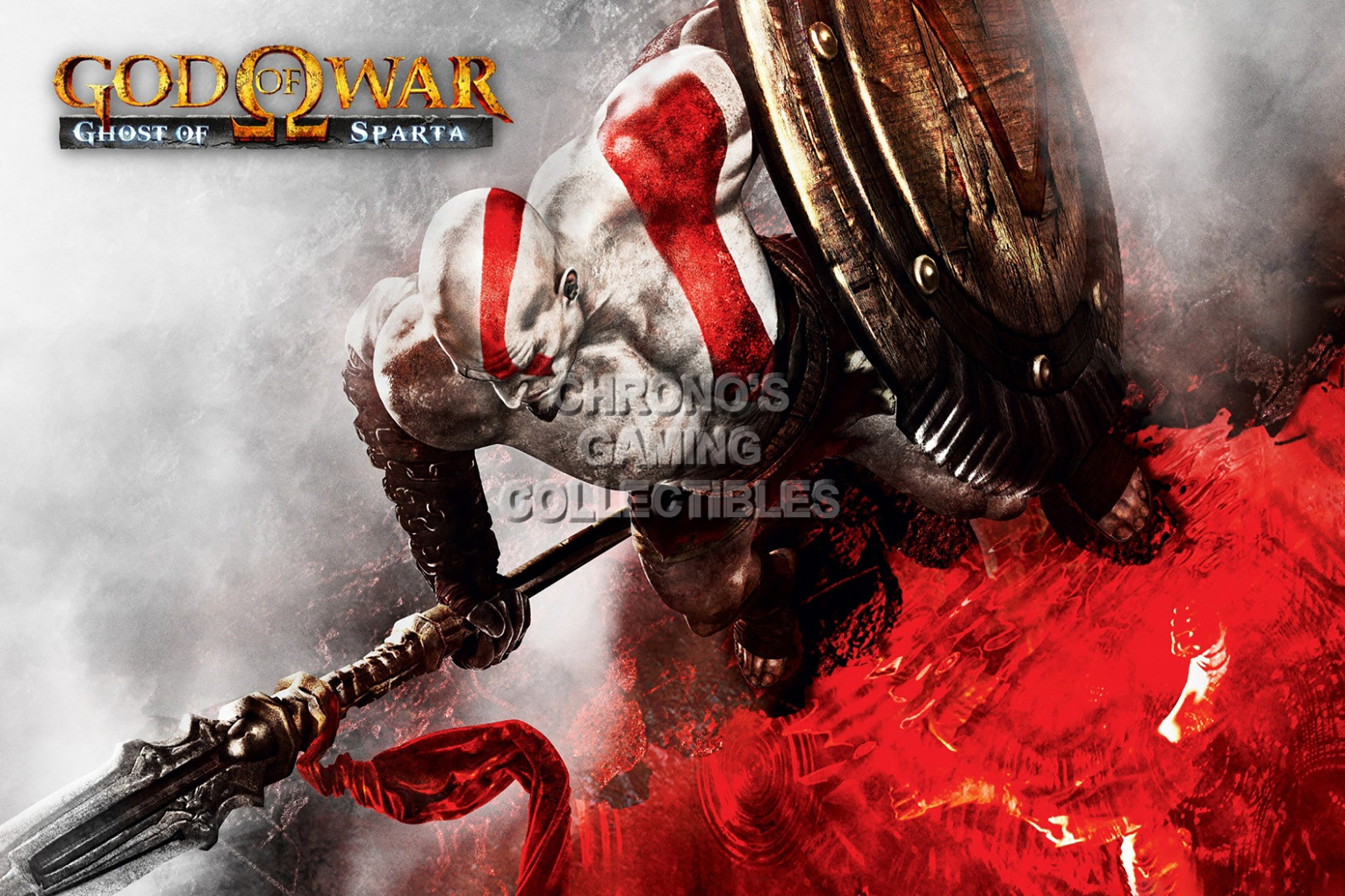CGC Huge Poster - God of War Ghost of Sparta Kratos Sony PS2 PS3 PS4 PSP  Vita - GOW016