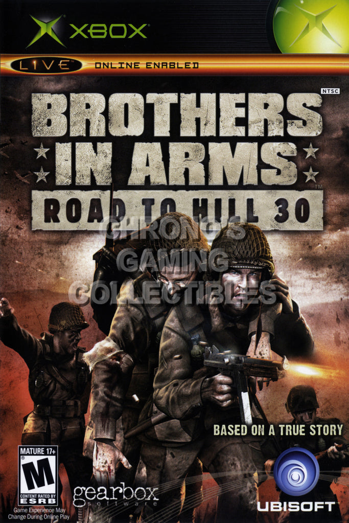 CGC Huge Poster - Brothers in Arms Road to Hill 30 BOX ART - Original XBOX - XBX009