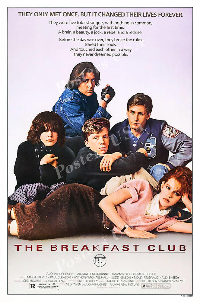 Posters USA - The Breakfast Club Movie Poster GLOSSY FINISH  - MOV952