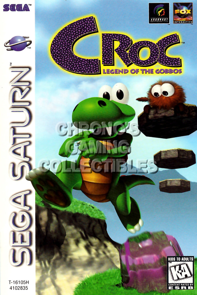 CGC Huge Poster - Croc BOX ART - Sega Saturn  - SAT015
