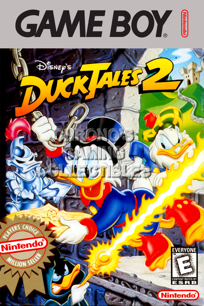 CGC Huge Poster - Duck Tales 2 Original Nintendo Gameboy Box Art - GBO016
