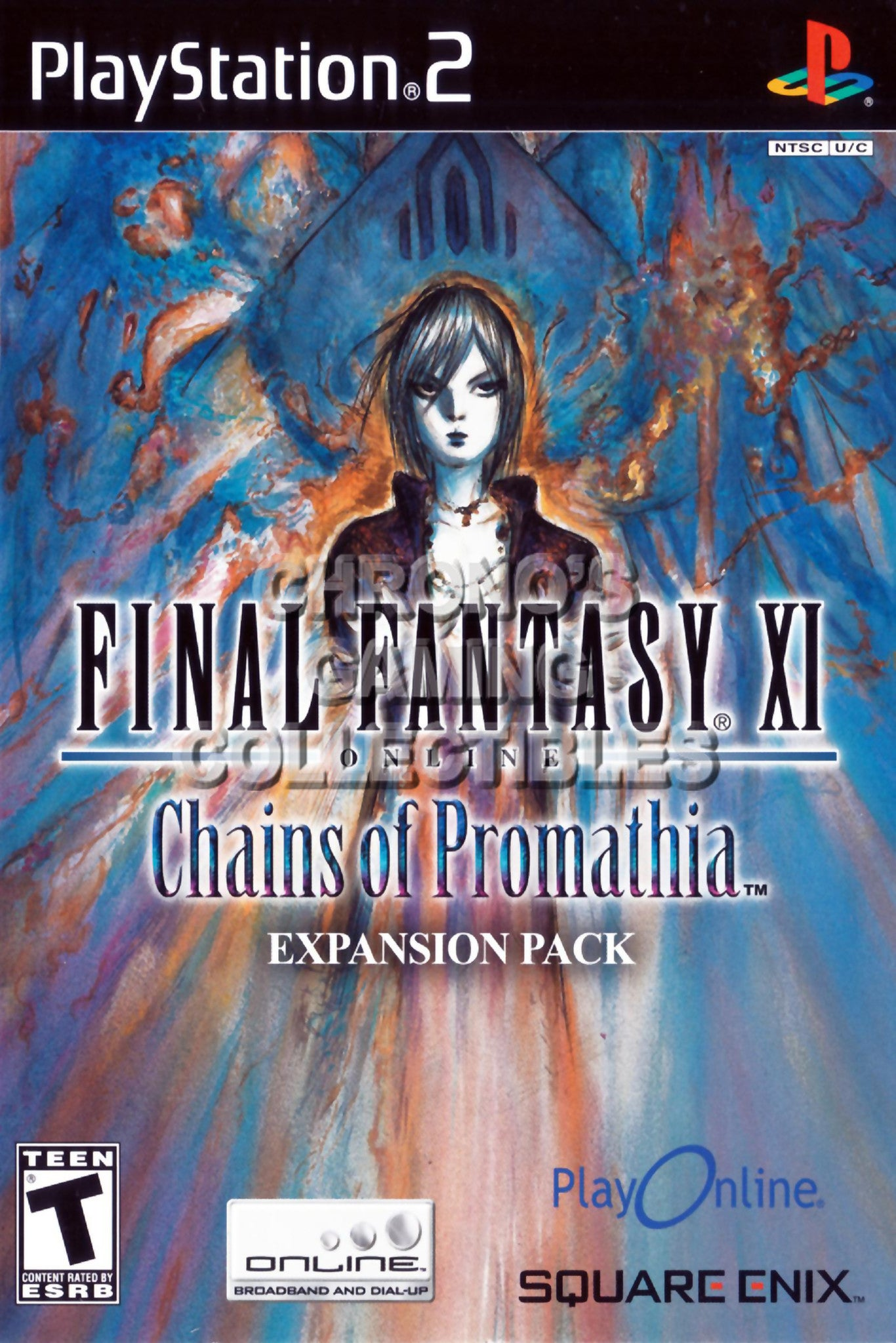 CGC Huge Poster - Final Fantasy XI Online Chains of Promathia - BOX ART  Sony Plastation 2 PS2 - PS2106