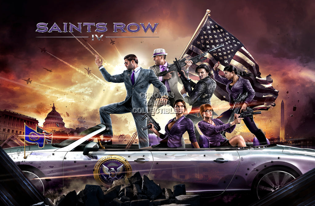 CGC Huge Poster - Saints Row IV PS3 PS4 XBOX 360 ONE PC - SSR010