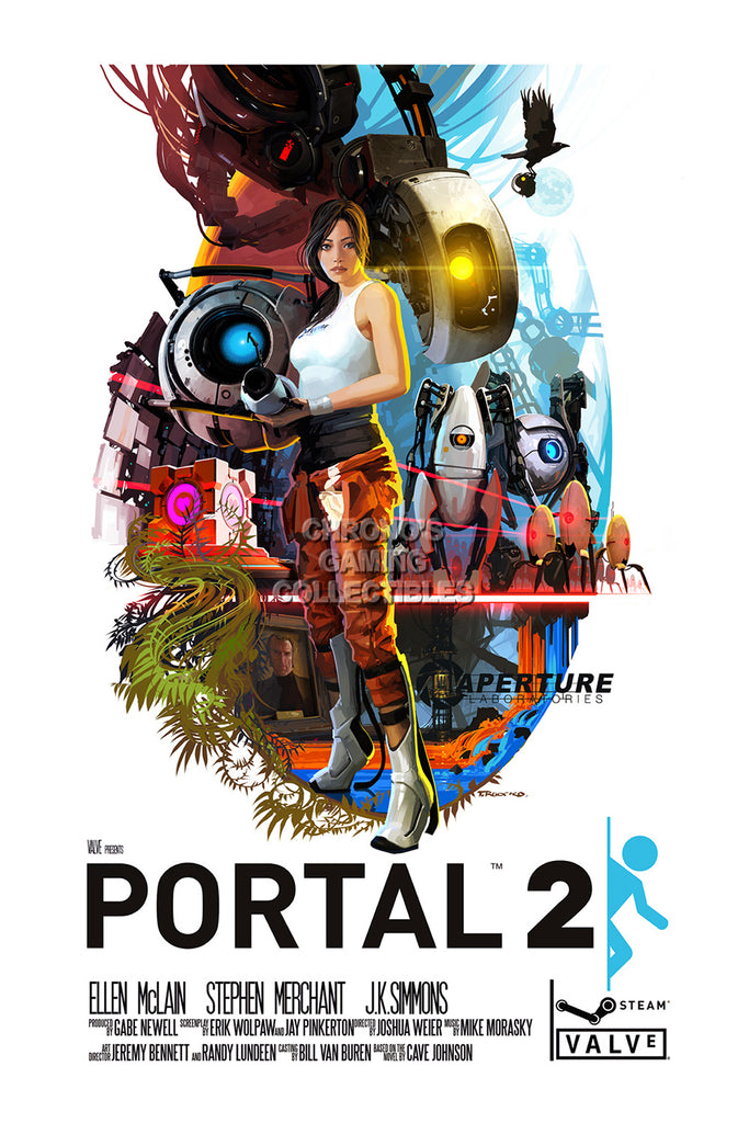 CGC Huge Poster - Portal 2 PS3 XBOX 360 PC - POR008