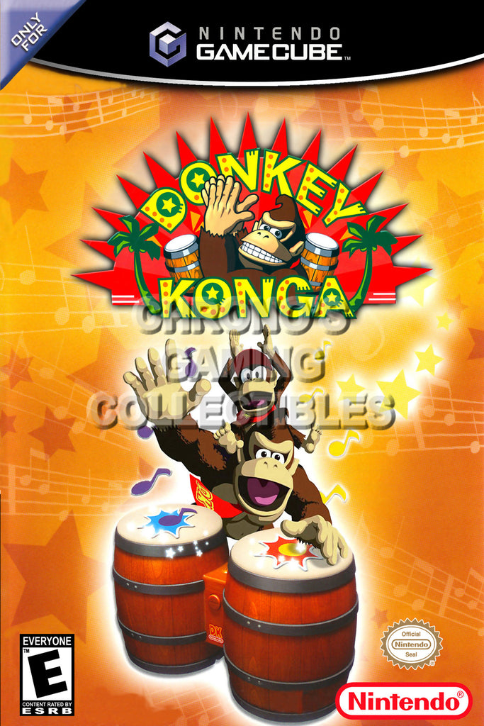 CGC Huge Poster - Donkey Konga BOX ART - Nintendo GameCube GC - NGC011
