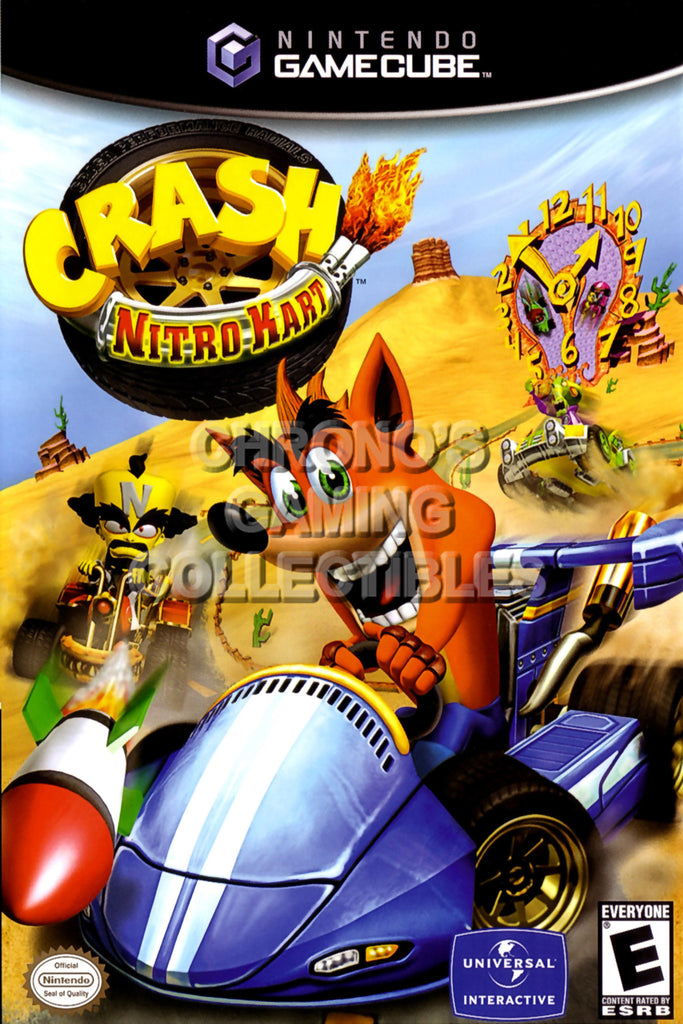 CGC Huge Poster - Crash Nitro Kart - Nintendo GameCube GC - NGC006