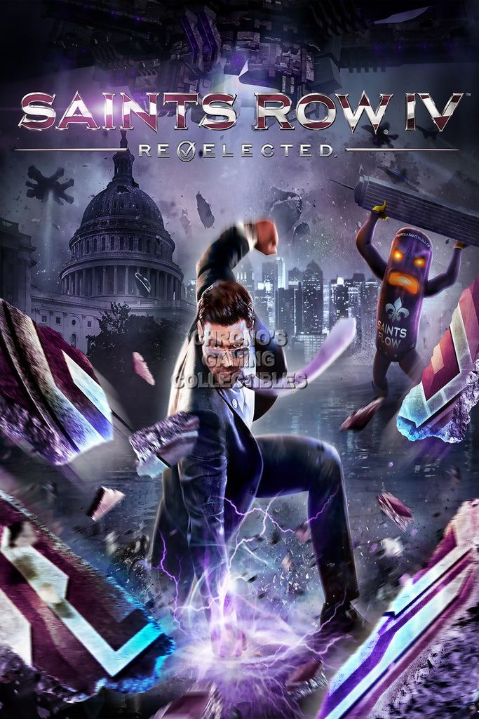 CGC Huge Poster - Saints Row IV Re-Elected PS3 PS4 XBOX 360 ONE PC - SSR009