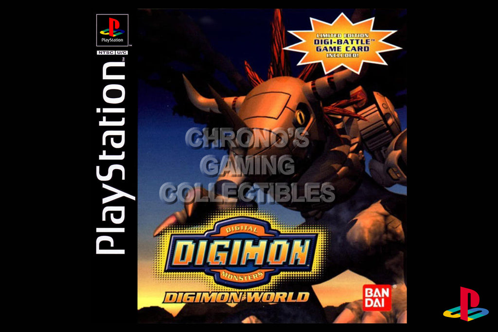 CGC Huge Poster - Digimon World - Playstation PS1 PSX - PSX022