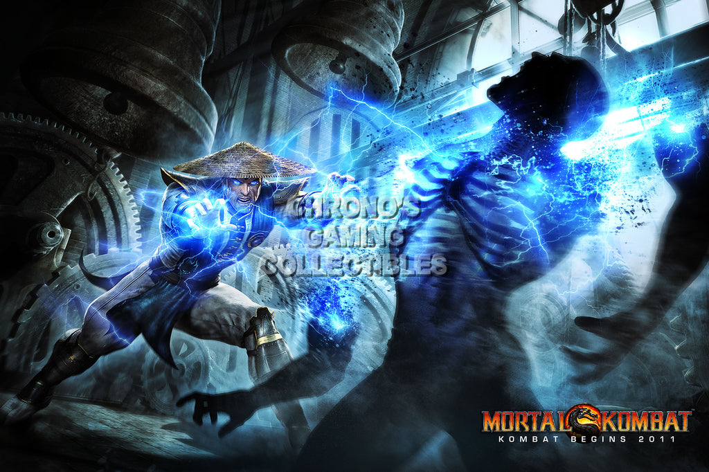 CGC Huge Poster - Mortal Kombat 9 Raiden PS3 XBox 360 - MKX052