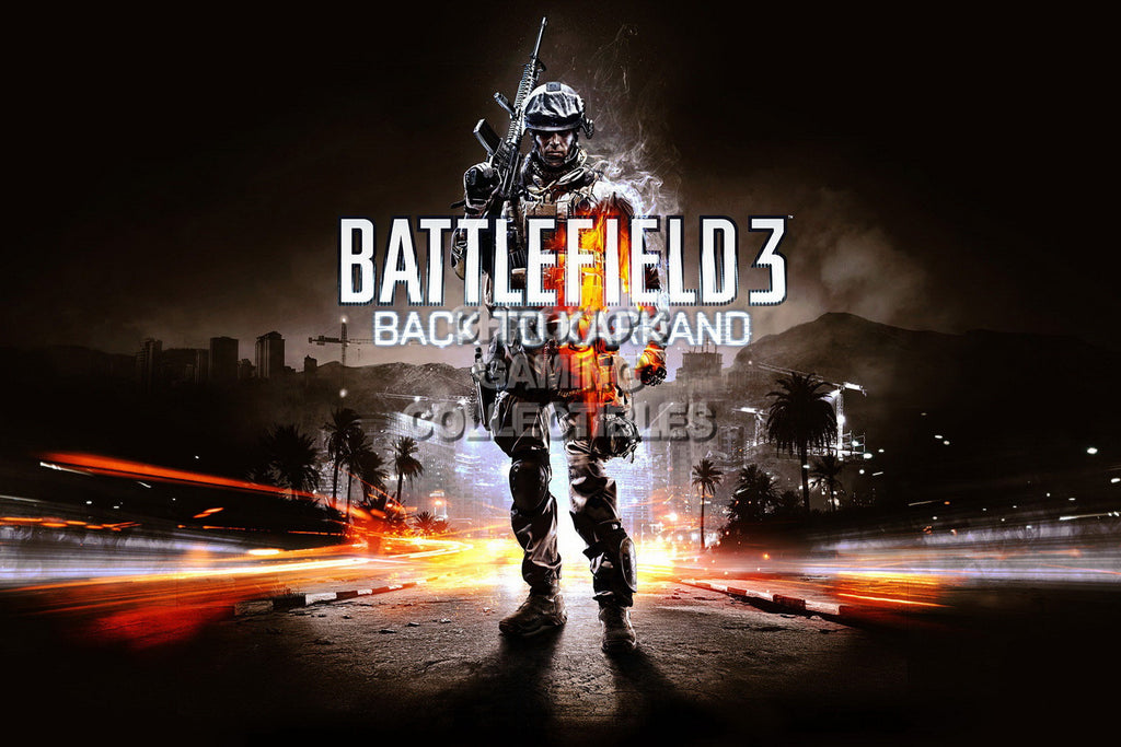 CGC Huge Poster - Battlefield 3 Back to Karkano - PS3 XBOX 360 PC - BAF009
