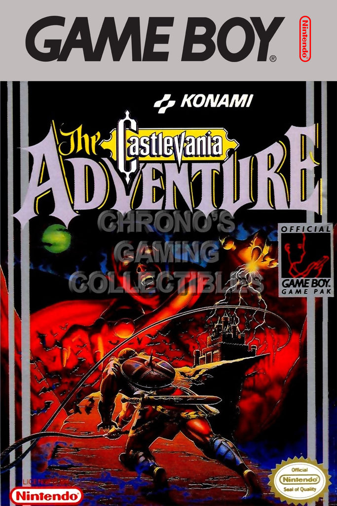 CGC Huge Poster - Castlevania Adventure Original Nintendo Gameboy Box Art - GBO007