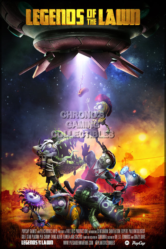 CGC Huge Poster - Plant Vs Zombies Garden Warfare Legend of the Lawn - PS3 PS4 XBOX 360 ONE - PVZ002
