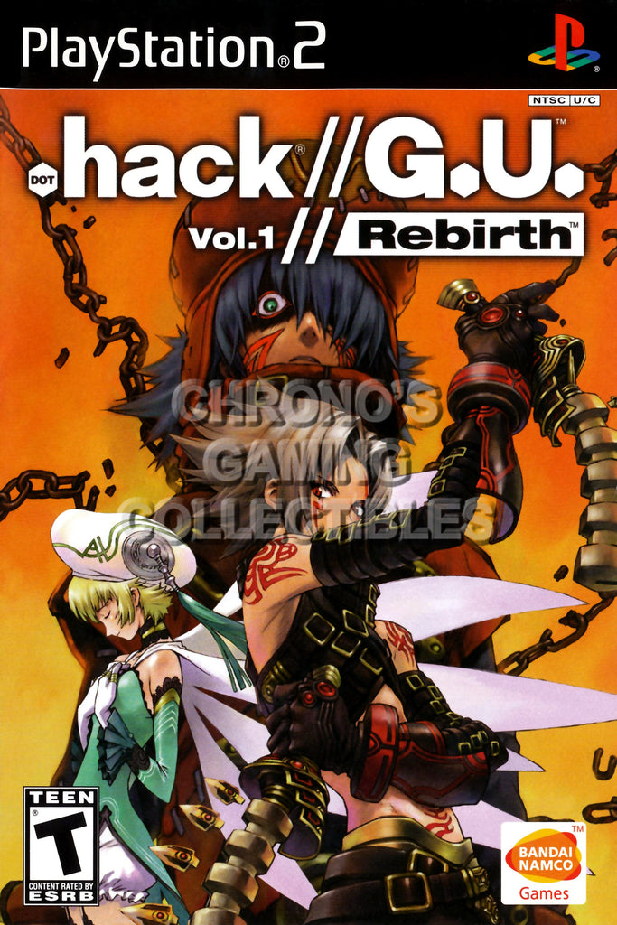 CGC Huge Poster - .Hack G.U. Vol 1 Rebirth - BOX ART Sony Plastation 2 PS2 - PS2002