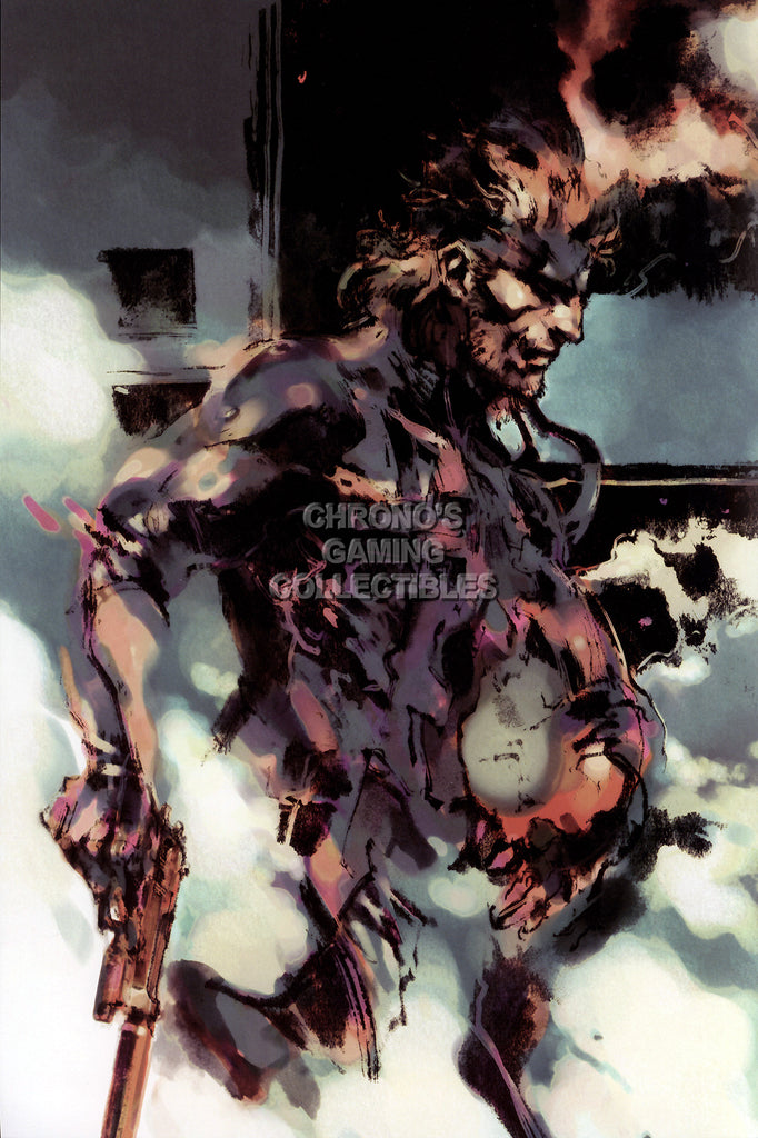 CGC Huge Poster GLOSSY FINISH - Metal Gear Solid Snake PS1 PS2 PS3 PS4 - EXT080
