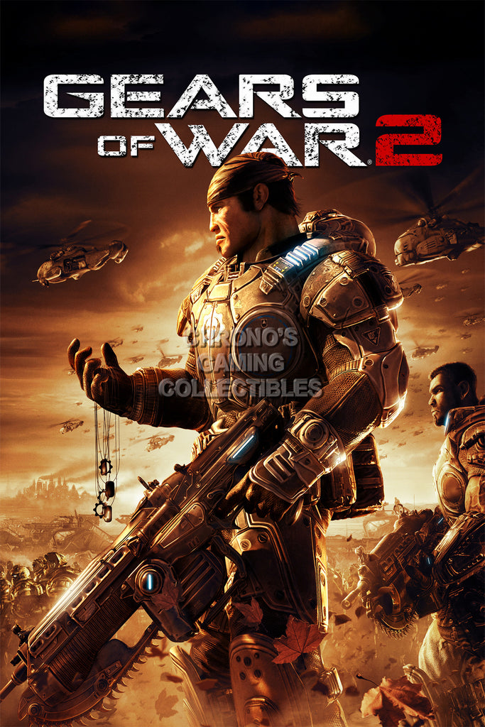 CGC Huge Poster - Gears of War 2 XBOX 360 - GAS010