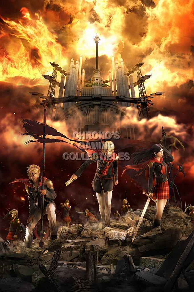 CGC Huge Poster - Final Fantasy Type-0 Zero PS3 PS4 XBOX 360 One - FTZ002