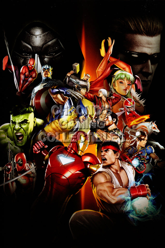 CGC Huge Poster - Marvel vs Capcom 3 Ultimate PS3 XBOX 360 - MVC021
