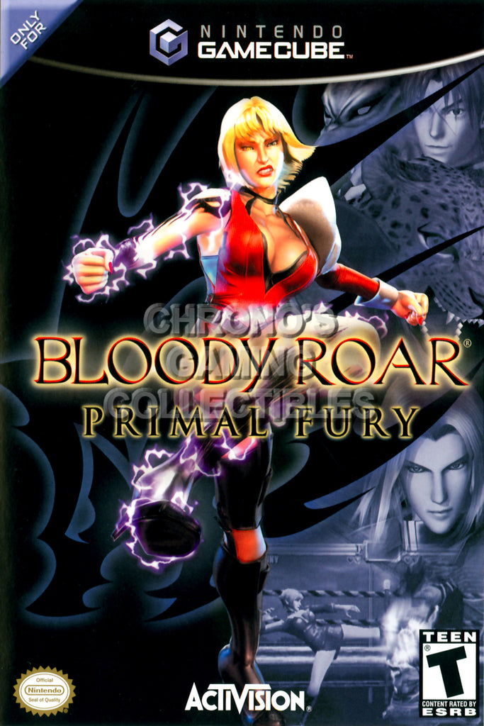 CGC Huge Poster - Bloody Roar Primal Fear - Nintendo GameCube GC - NGC003