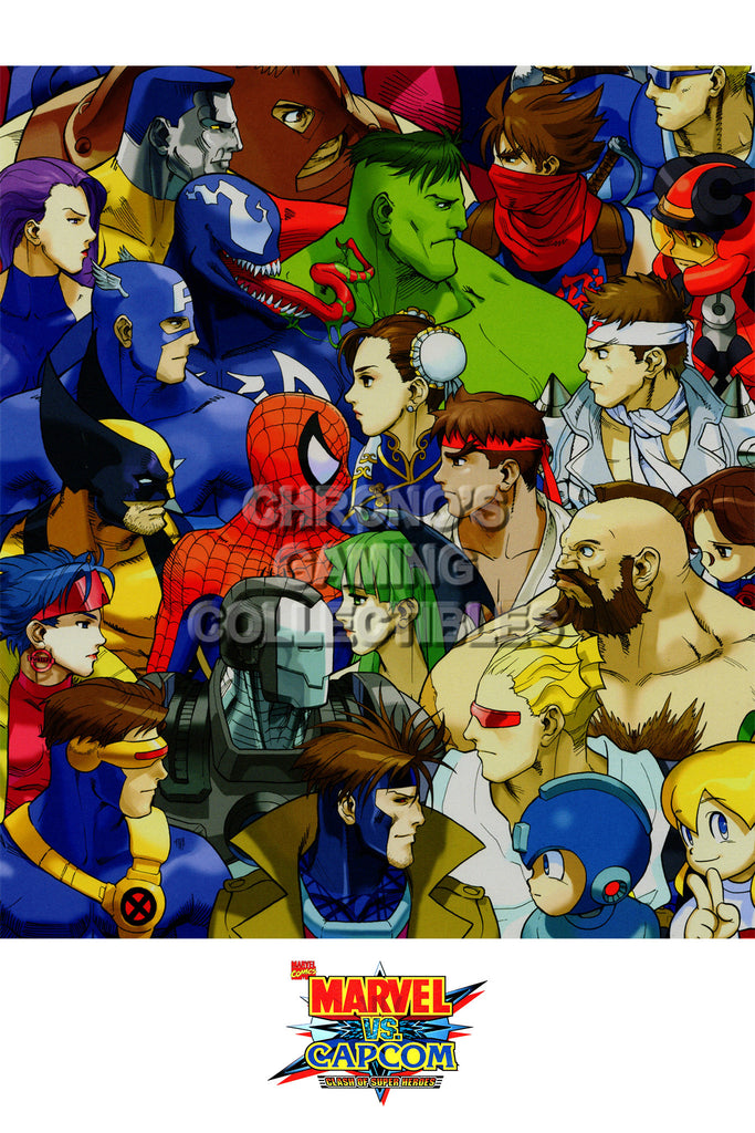 CGC Huge Poster - Marvel vs Capcom 3 Ultimate PS3 XBOX 360  - MVC022
