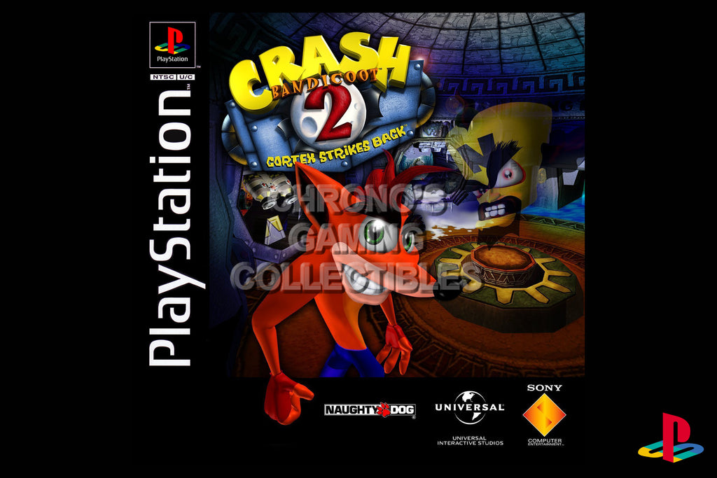 CGC Huge Poster - Crash Bandicoot 2 Cortex Strikes Back - Playstation PS1 PSX - PSX017