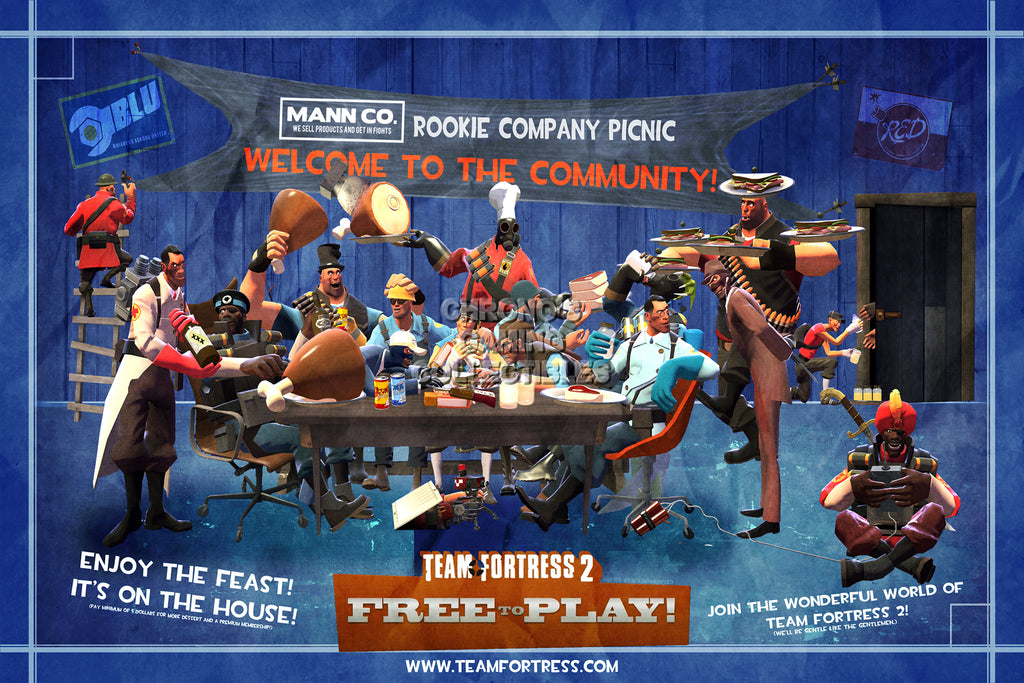 CGC Huge Poster - Team Fortress 2 PS3 XBOX 360 PC - TF2009