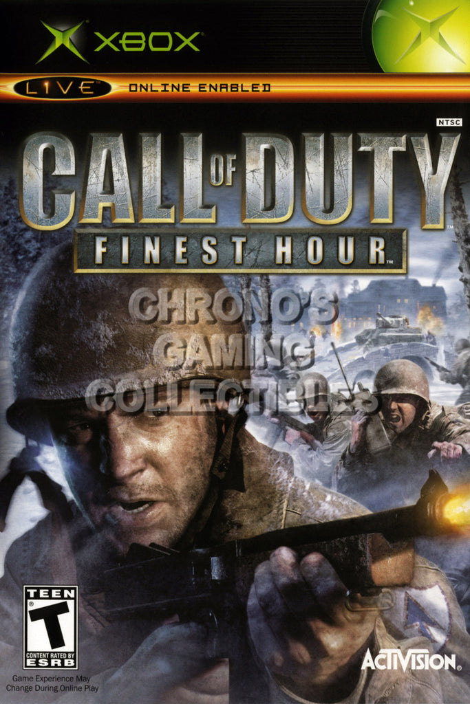 CGC Huge Poster - Call of Duty Finest Hour BOX ART - Original XBOX - XBX016