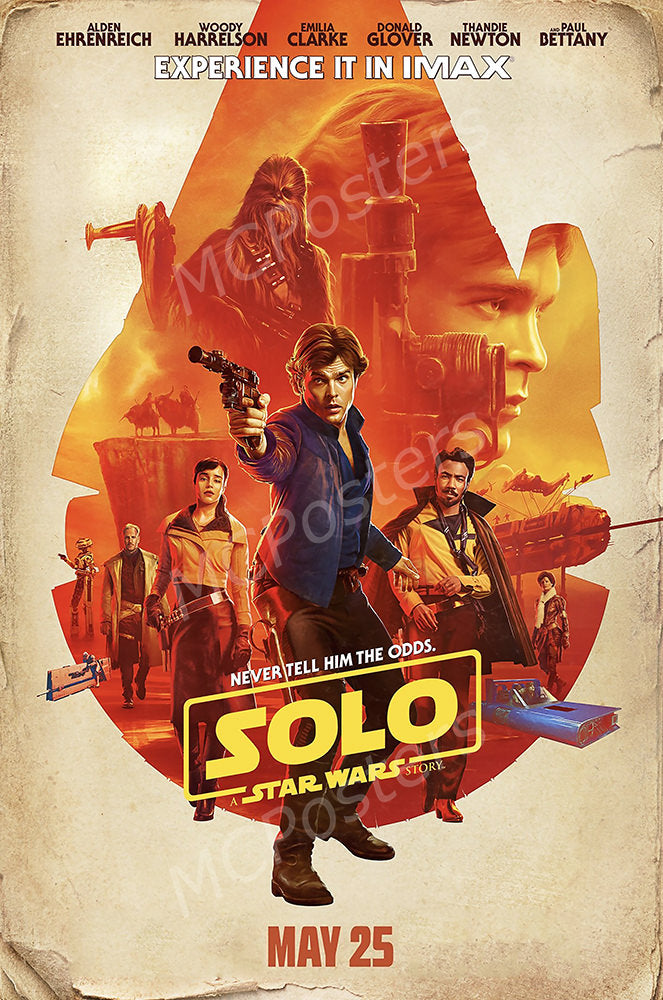 MCPosters - Han Solo A Star War Story GLOSSY FINISH Movie Poster - FIL990