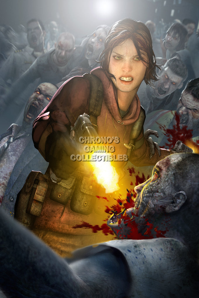 CGC Huge Poster - Left 4 Dead Zoey XBOX 360 PC - L4D015