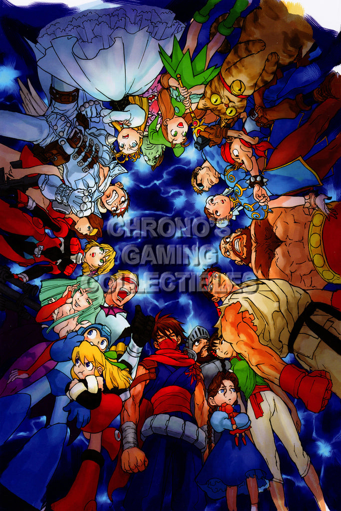 CGC Huge Poster - Marvel vs Capcom 2 New Age of Heroes PS2 - MVC001