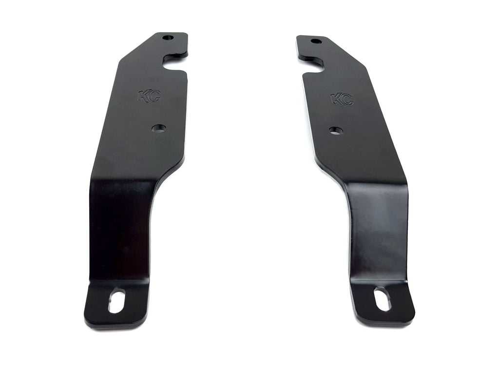 "KC HiLiTES GM 2500/3500 A-pillar brackets allow you to easily mount and fit up to 6"" lights above the hood cowl of your Chevy/GMC 2500-3500 truck. Constructed from durable steel with a Satin Black powder coat finish. (73419) 