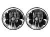 "Gravity LED 7"" Headlight DOT Jeep TJ 97-06/Universal H4 Pair Pack (42361) 